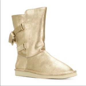 Juicy Couture metallic suede gold booties - 8